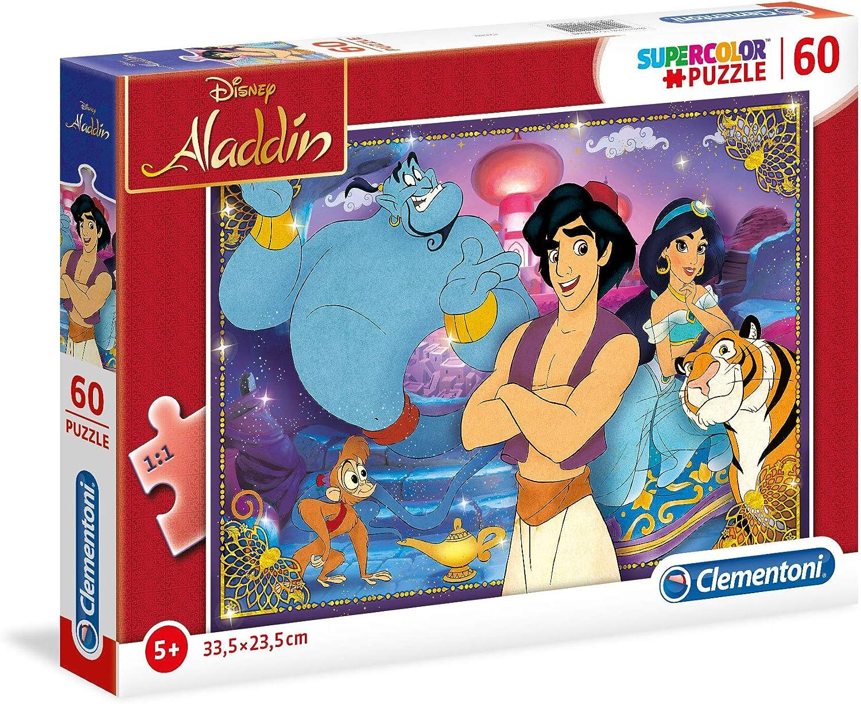 Clementoni Supercolor puzzle-aladdin-60 Unidades, Multicolor ...