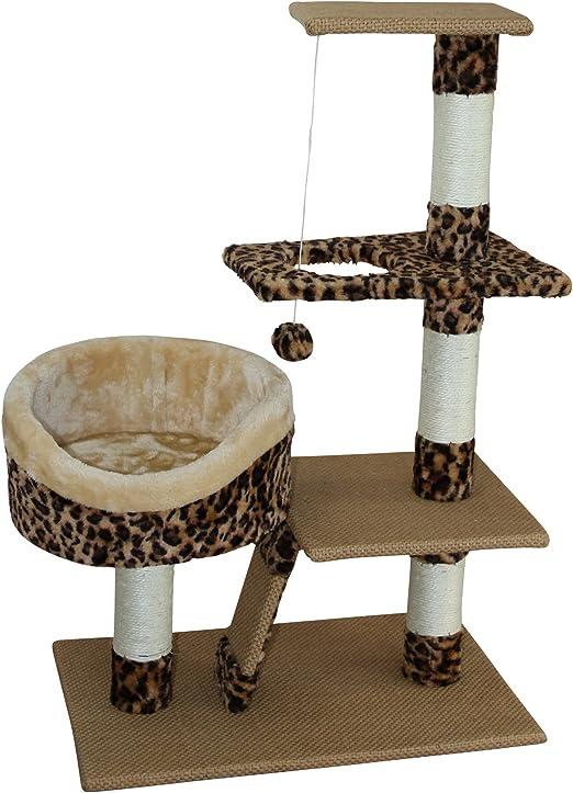 LLuckyPet Rascador gato Torre para rascar juegos para gatos arañar ...