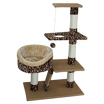 LLuckyPet Rascador gato Torre para rascar juegos para gatos arañar beige marrón (Cod. LU8037): Amazon.es: Juguetes y juegos