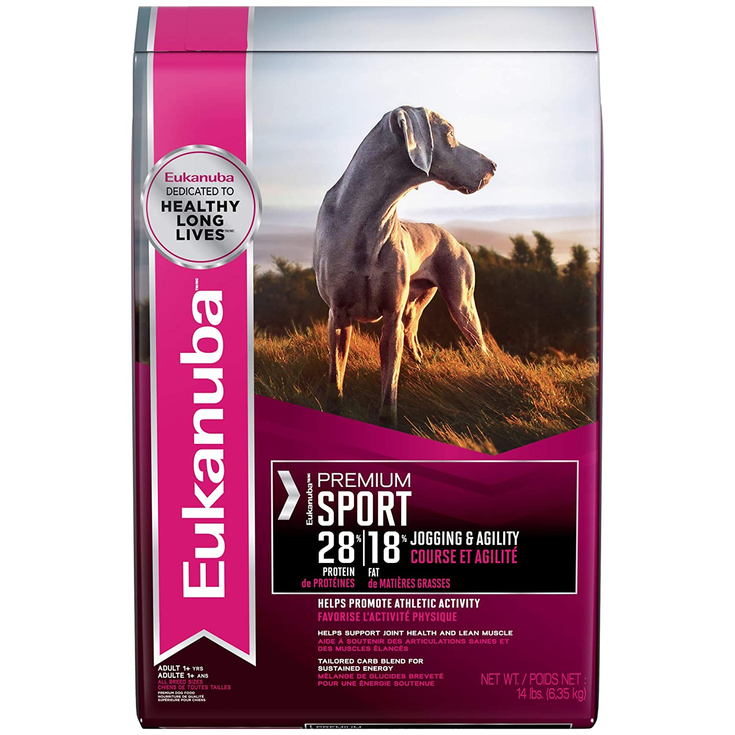 14 lbs. Eukanuba PREMIUM Condition Adult 28 18 Dog Food for Athletic Dogs 14 Pounds