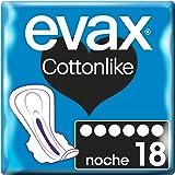 Evax Cotonlike Serviette Hygiénique avec des Ailes pour Nuit 50 g