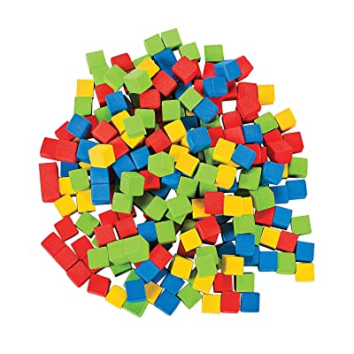 Fun Express Counting Cubes- 1Cm - 200 Pieces - Educational and Learning Activities for Kids: Office Products