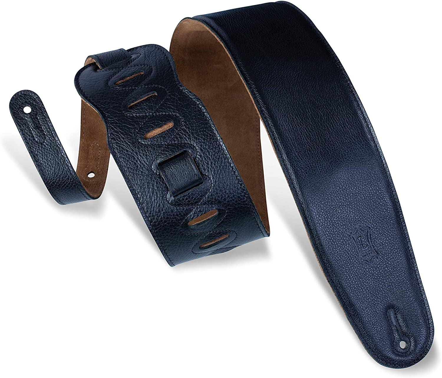 """Levy's Leathers M4GF-BLK 3.5"""" Garment Leather Bass Guitar Strap"""
