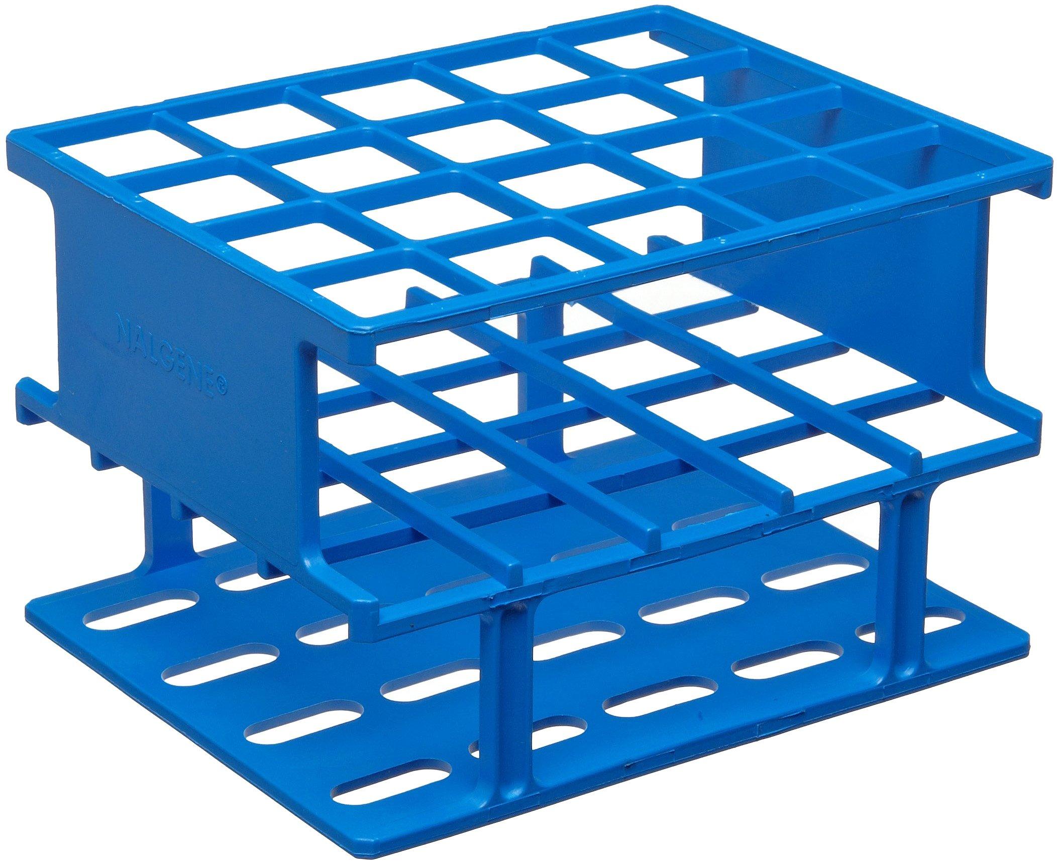 Nalgene 5972-0320 Acetal Plastic Unwire Test Tube Half Rack for 20mm Test Tubes, Blue by Nalgene