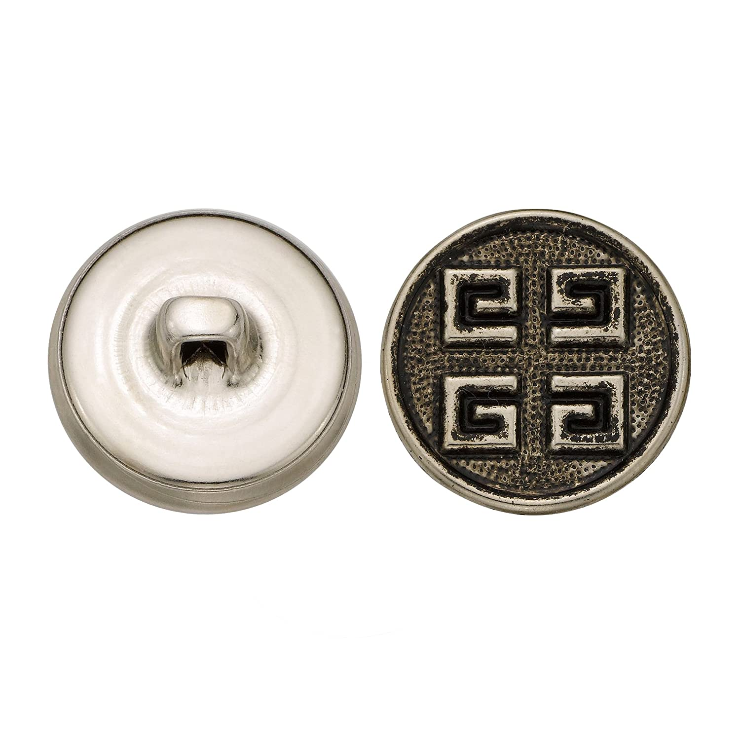 Size 30 Ligne C/&C Metal Products 5205 Modern Metal Button 36-Pack C/&C Metal Products Corp Antique Nickel
