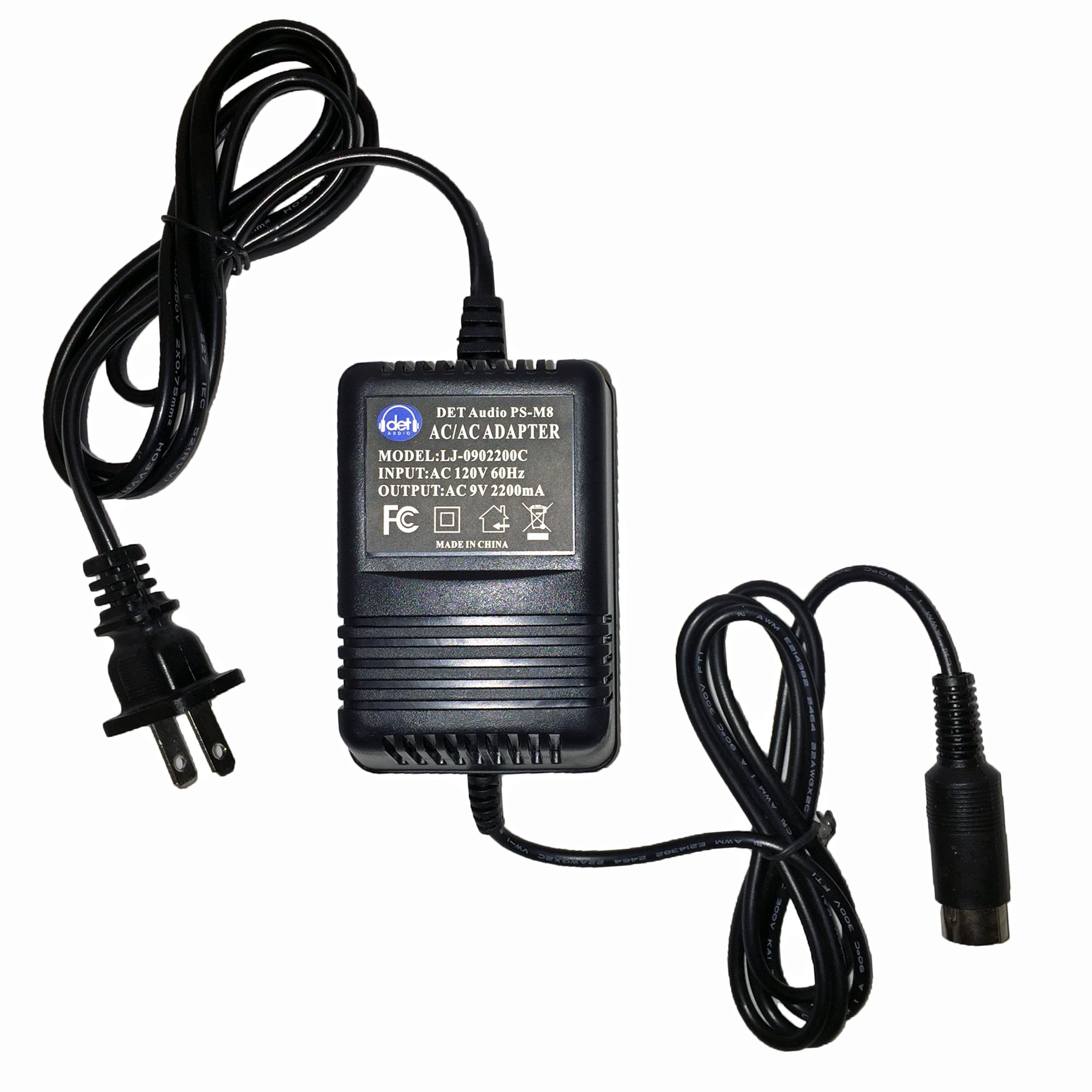 AC Power Adapter - for Digitech PS0920 4-Pin DIN by DET Audio (Image #1)