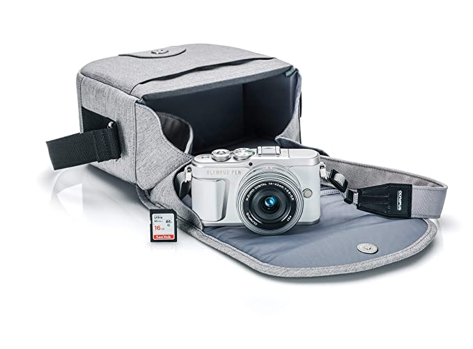 Olympus Pen E Pl9 Kit With 14 42mm Ez Lens, Camera Bag, And Memory Card, Pearl White by Olympus