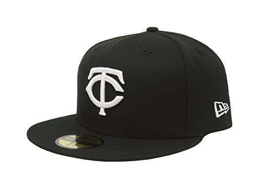 da30030b870 New Era 59Fifty Hat Minnesota Twins Black with White Cap 11591134 at ...