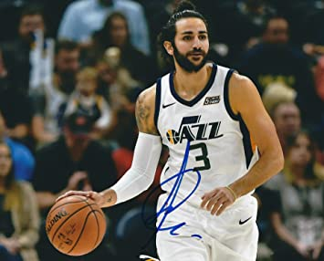 Autographed Ricky Rubio Utah Jazz 8x10 Photo