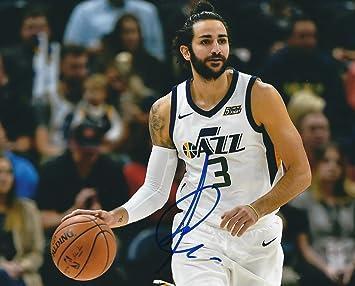 Autographed Ricky Rubio Utah Jazz 8x10 Photo