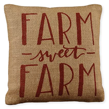 Amazon Small Red Farm Sweet Farm Calligraphy Print 40 X 40 Burlap Interesting Small Decorative Throw Pillows