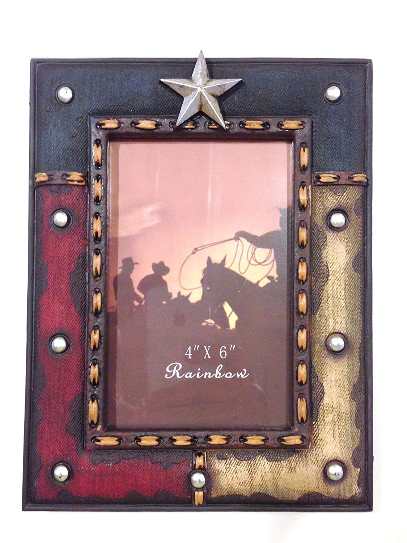 Amazon.com - Texas Lone Star Western Decor Red White & Blue 4x6 ...