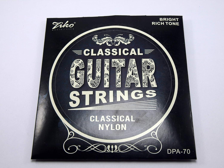 2 Juegos completos de cuerdas marca ZIKO para Guitarra Clásica Mod DPA-70 Calibre 028-043 Tensión Alta