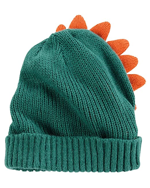7e11df3fc Amazon.com: Carter's Baby Boys' Knit Character Hat, 0-9 Months Green ...