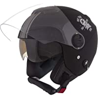 Pro Tork Capacete New Atomic Skull RideRosa Fosco 56 Preto/Prata