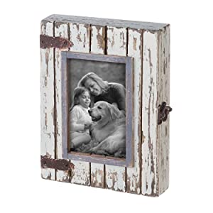 Foreside Home & Garden FFRD06193 4X6 Rustic Wood Box Frame White