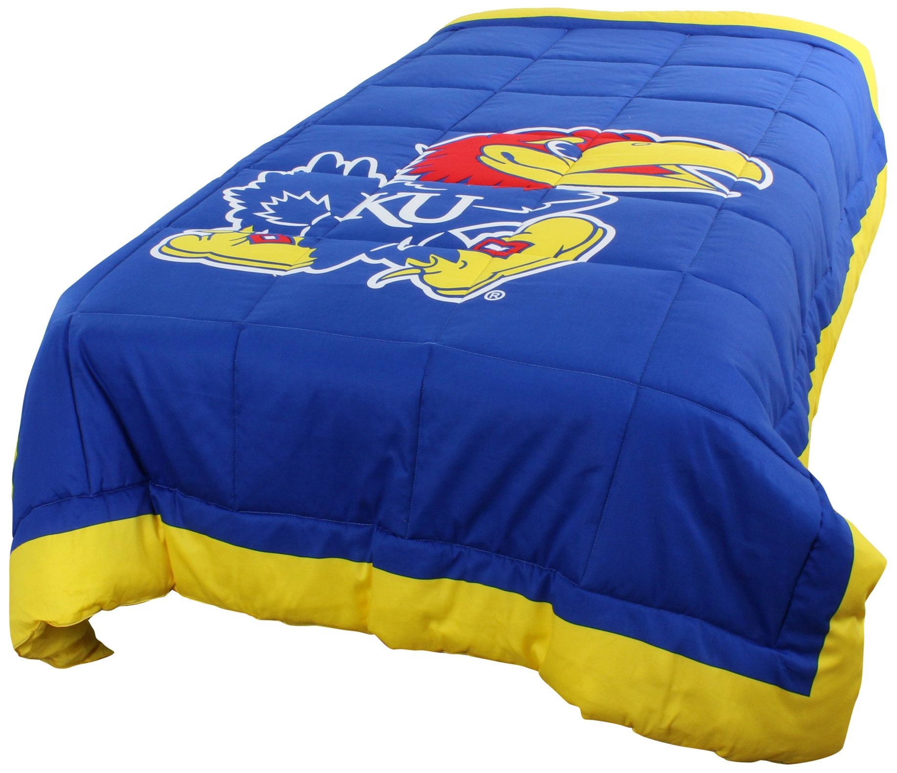 College Covers Kansas Jayhawks 2 Sided Reversible Comforter, Twin