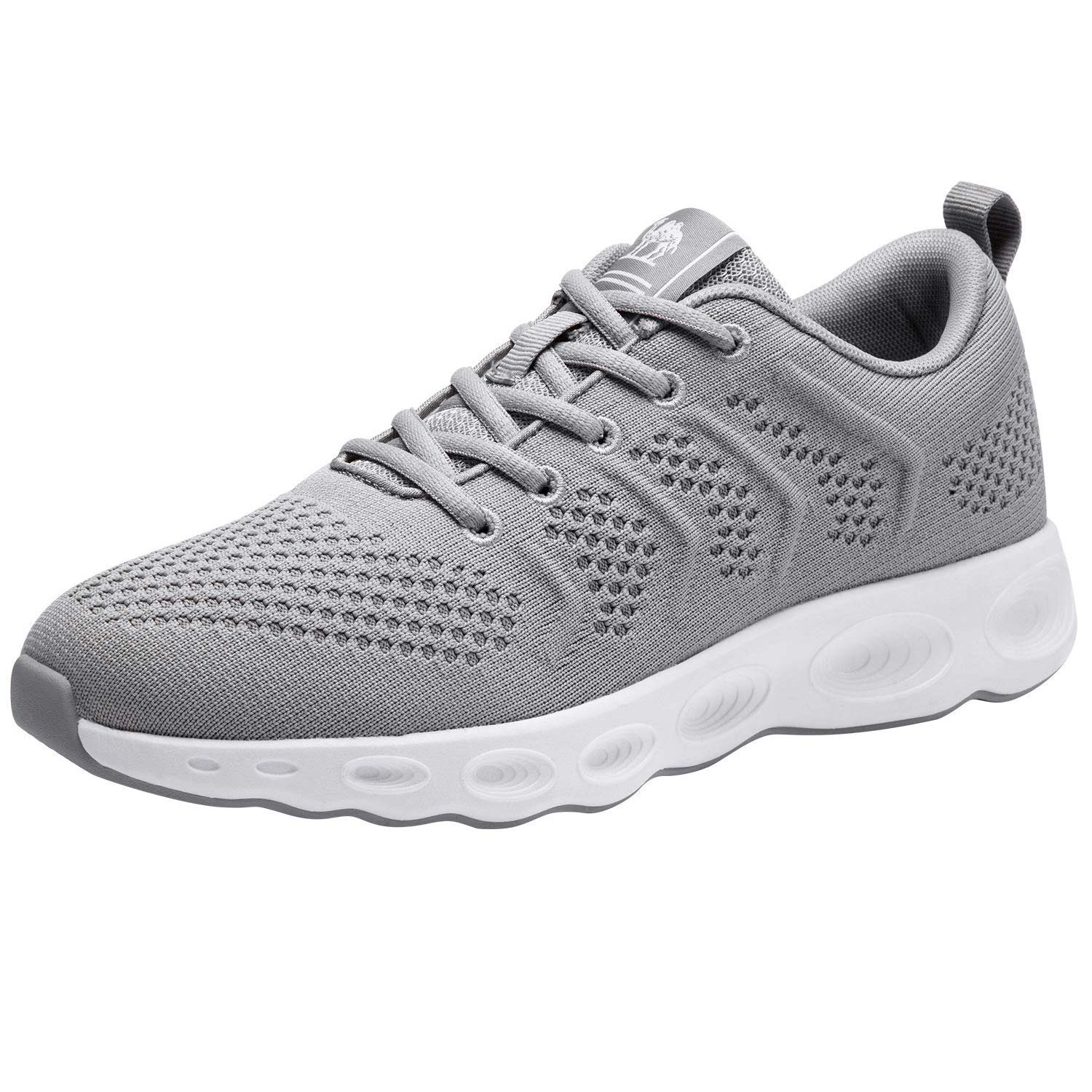 CAMEL CROWN Running Shoes Men Tennis Walking Trainning Trail Lightweight Comfortable Sneakers Athletic Gym Casual Footwear for Sports Outdoors Grey 9