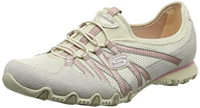 SKECHERS Bikers - Hot Ticket Natural/Taupe,7.5 M