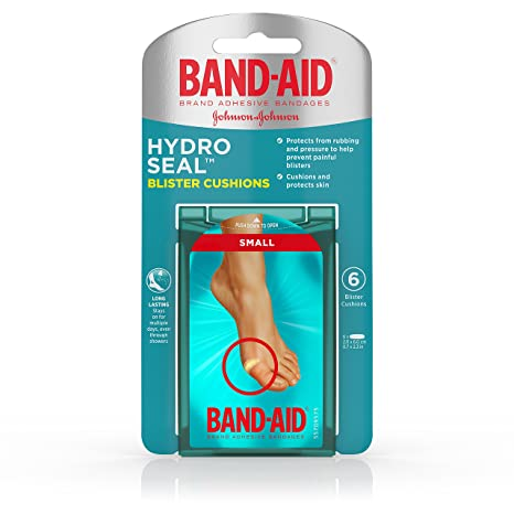 Band-Aid Brand Hydro Seal Blister Cushion Bandages, Waterproof Ashesive  Pads, Small, 6 ct