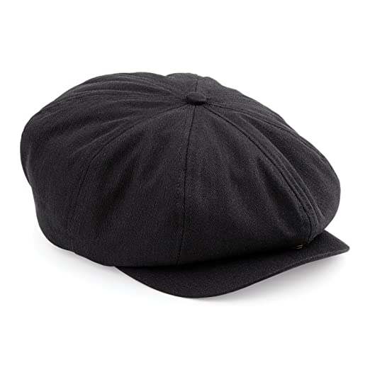 9611e10502a Amazon.com  Beechfield Mens Classic Herringbone Newsboy Cap  Clothing