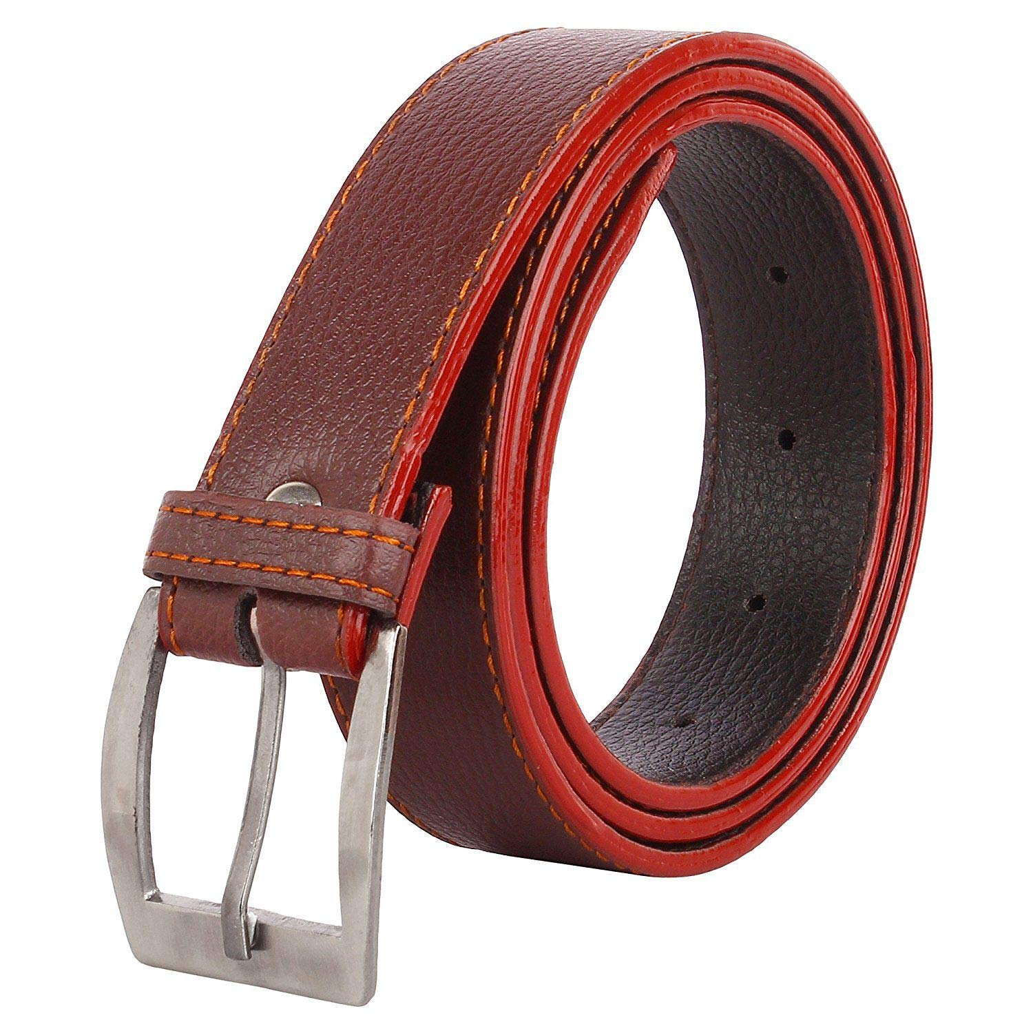 Goonchy Brown Faux Leather Formal Belt Pack of 1