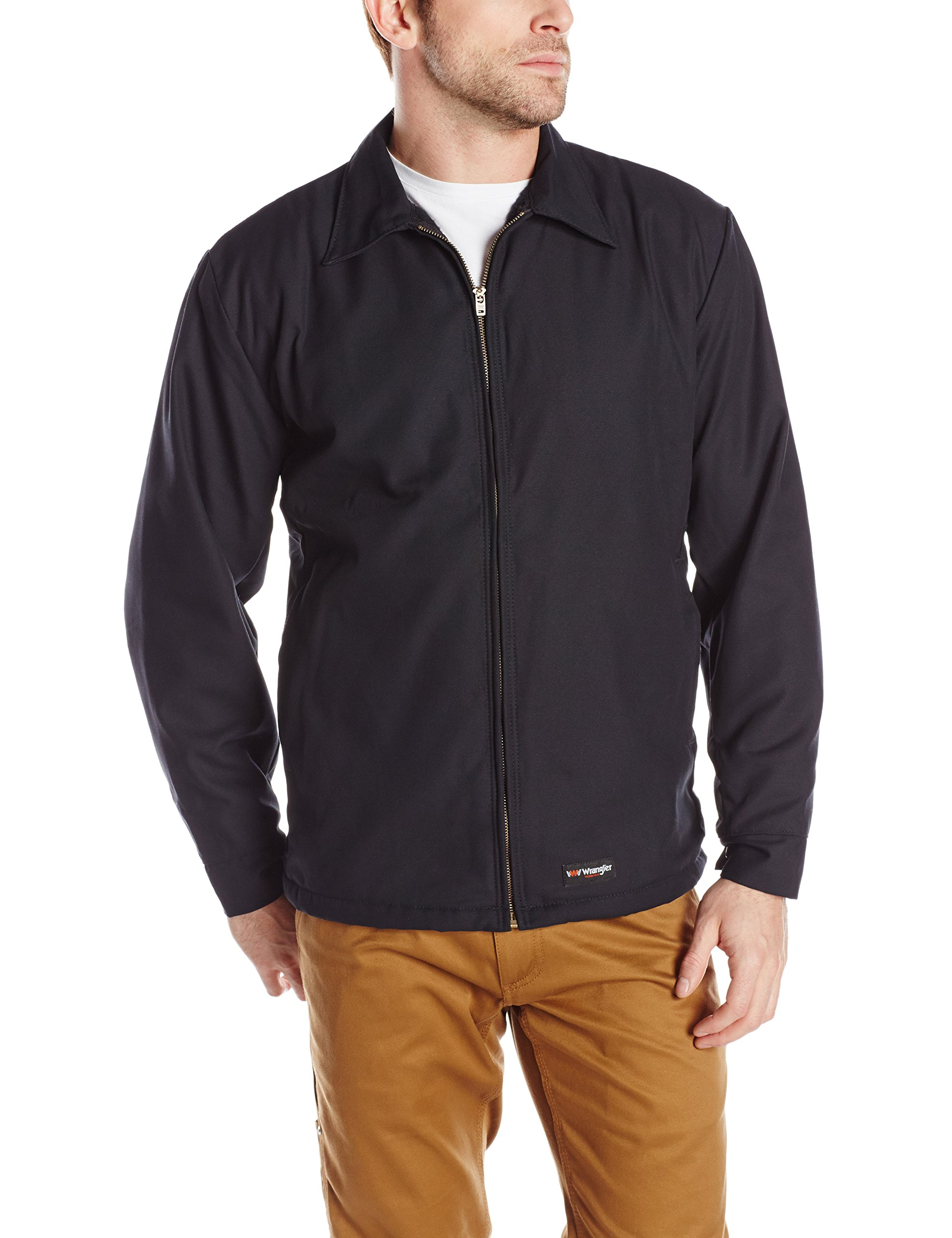 Wrangler Workwear Men's Work Jacket, Black, Medium