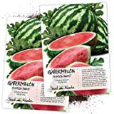Seed Needs, Crimson Sweet Watermelon (Citrullus lanatus) Twin Pack of 100 Seeds Each Non-GMO