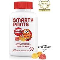 SmartyPants Kids Formula Daily Gummy Vitamins: Gluten Free, Multivitamin & Omega 3 Fish Oil (DHA/EPA), Methyl B12, Vitamin D3, Vitamin B6, 120 Count (30 Day Supply) - Packaging May Vary