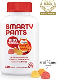 SmartyPants Daily Kids  Multivitamin Gummies: Vitamin C, D3, and Zinc for Immunity, Gluten Free, Omega 3 Fish Oil (DHA), Vit