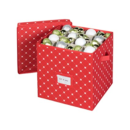 Christmas Ornament Storage Box With Lid Store Up To 64 Christmas Ornaments And Holiday Ornament Decor A Storage Cube And Christmas Box Container To