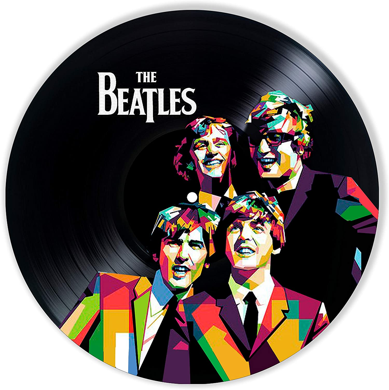 Beatles Vinyl Decor, Wall Decor Painted Beatles, Original Gifts for Music Lovers,The Best Gift for Souvenir, Unique Wall Art Home Decor