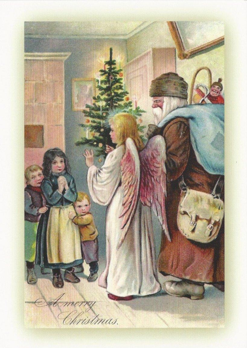 20retrò riproduzione di Natale di cartoline e buste Greetingles