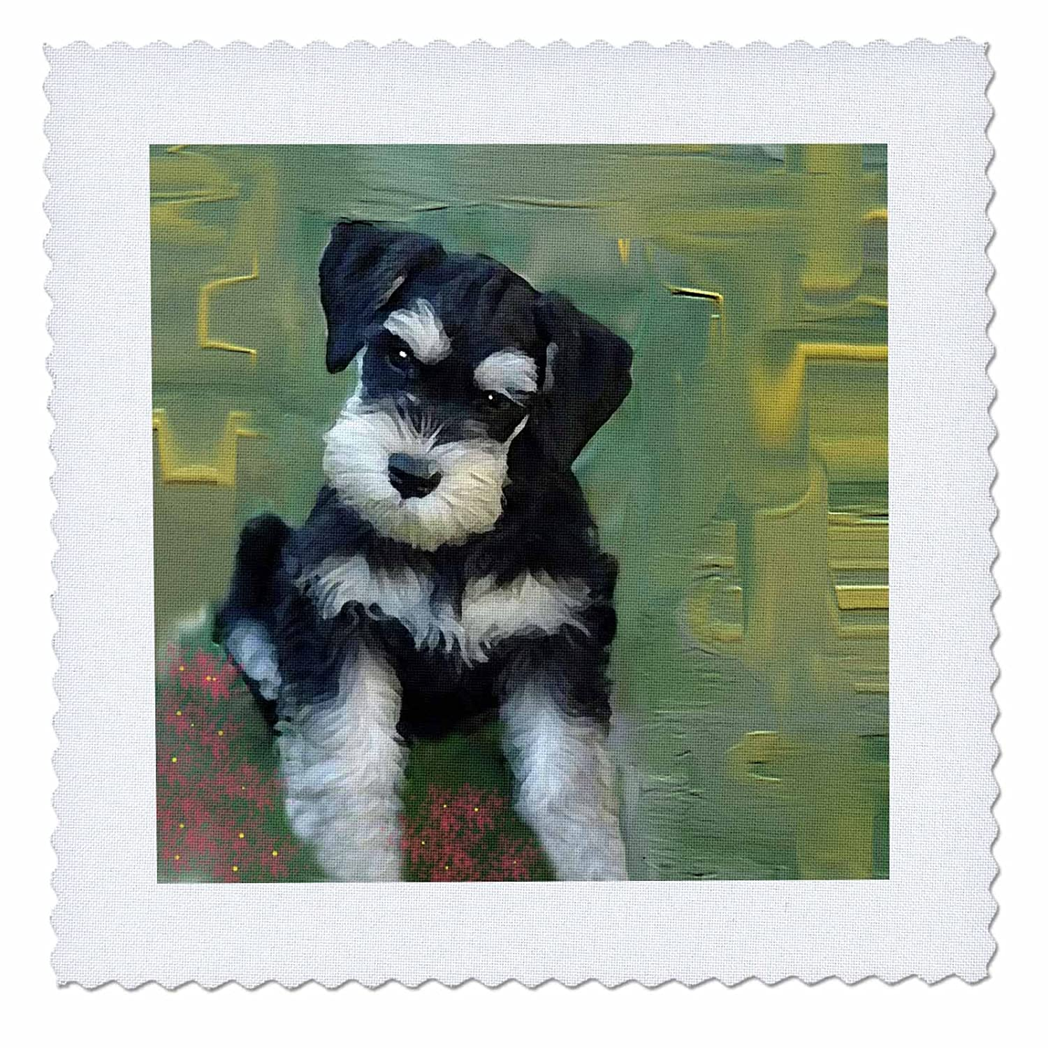 3dRose White Pekin Duck Quilt Square 14 by 14-inch qs/_4232/_5