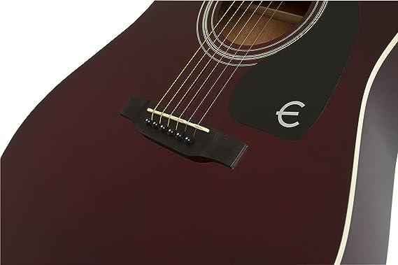Epiphone FT-100 - Guitarra acústica, color rojo: Amazon.es: Instrumentos musicales