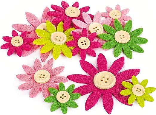 Glorex 6/7101/331/Felt Flowers Fliz Multi 9.5/x 9.5/x 1.5/cm