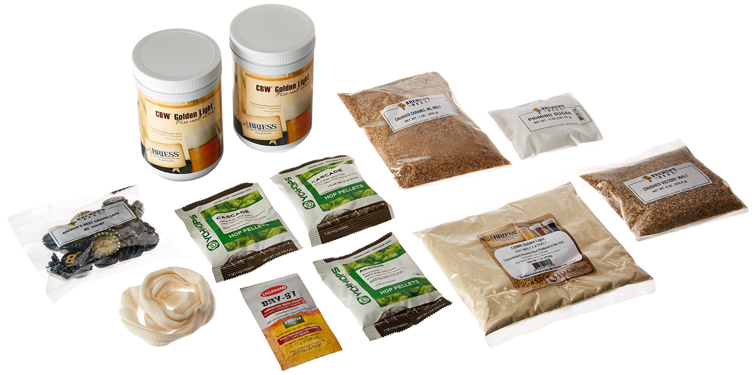 Brewer's Best India Pale Ale Homebrew Beer Ingredient Kit