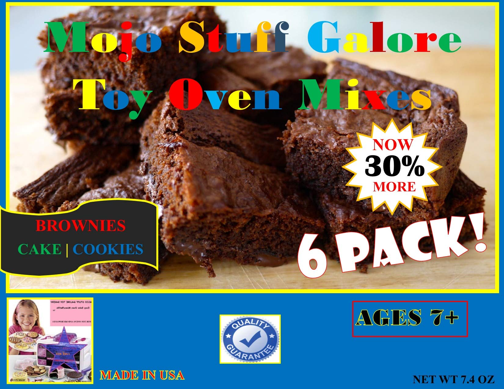 Mojo Stuff Galore Easy Bake Oven Refill | Mixes Brownies 6 Pack by Mojo Stuff Galore