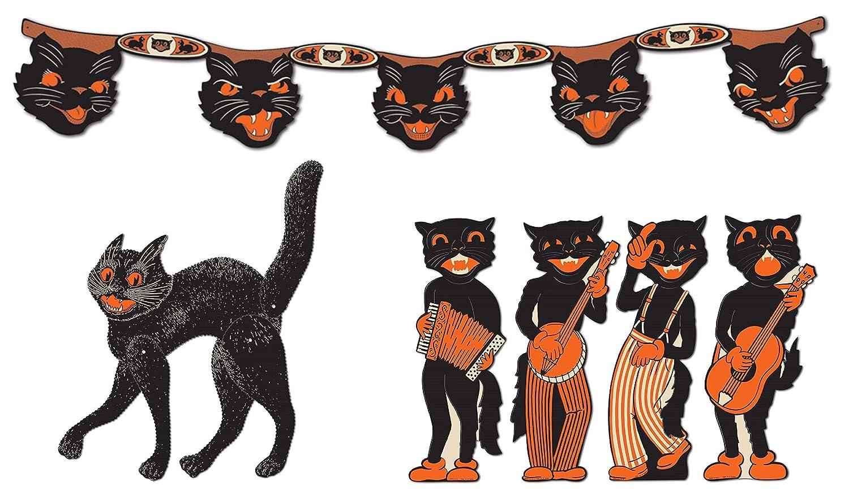 Amazon.com Vintage Halloween Black Cat Décor Bundle
