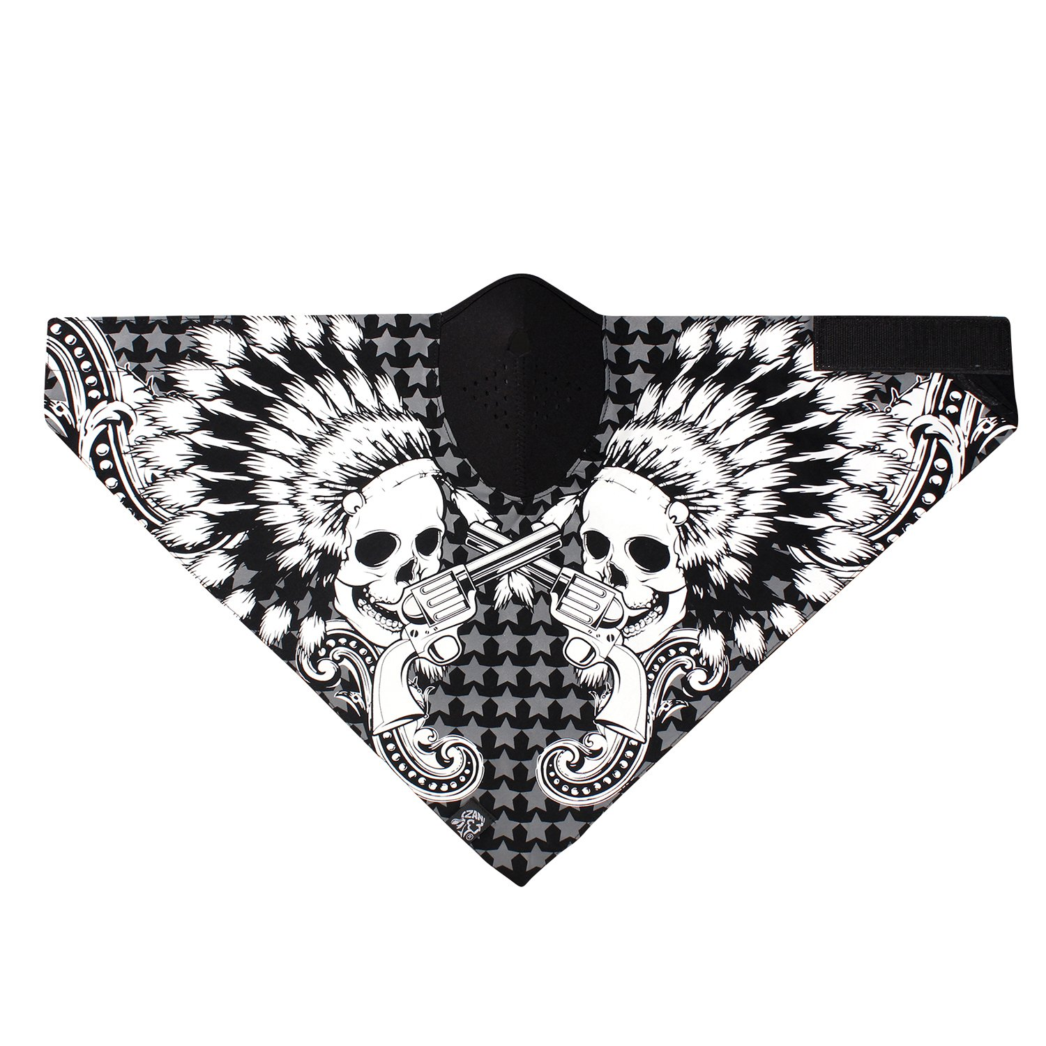 Zanheadgear Neodanna Chief 100 Percentage Cotton Bandanna with Neoprene Face Mask