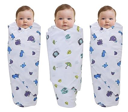 Buy Wonder Wee Baby Swaddle Blanket Wrap Pack Of 3 100 Cotton