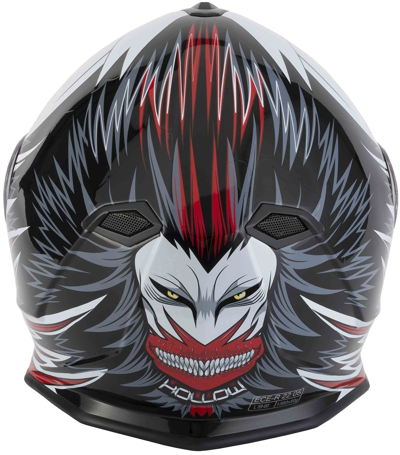 53 to 54cm XS NEW STYLE VCAN V127 HOLLOW RED GRAPHIC MOTORCYCLE MOTORBIKE SCOOTER CRASH TRACK HELMET QUICK SPORTS FULL FACE ACU