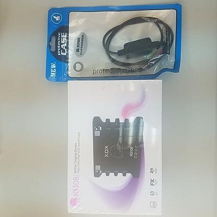 Amazon.com: XOX KS108 tarjeta de sonido DSP incorporado + ...