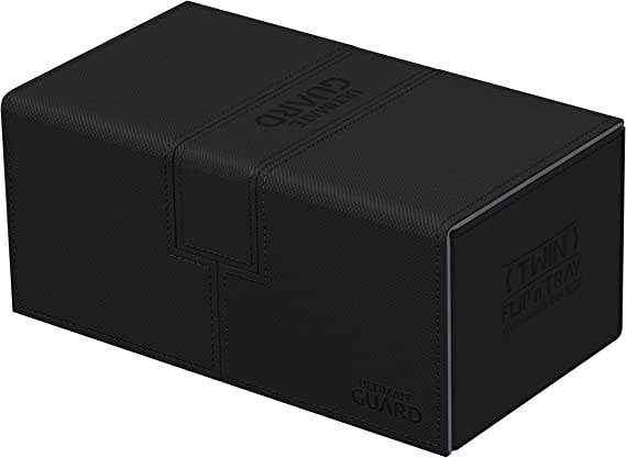 Ultimate Guard Twin Flip´n´Tray Deck Case 200+ Caja de Cartas Tamaño Estándar XenoSkin Negro: Amazon.es: Juguetes y juegos