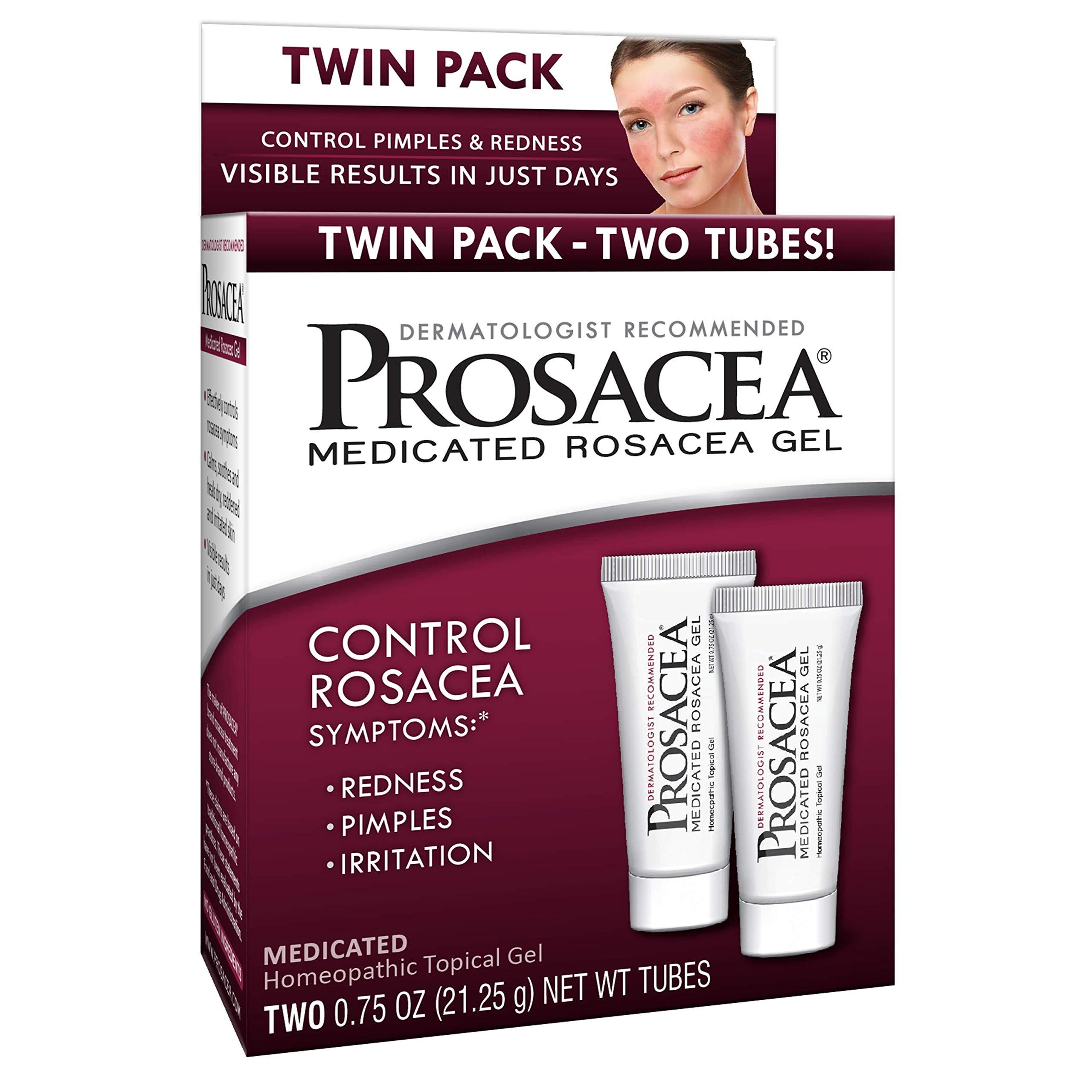 Prosacea Controls Maskne Rosacea Symptoms Redness Pimples Irritation (Twin Pack) Two 0.75oz Tubes oz (Total 1.5 Ounce)