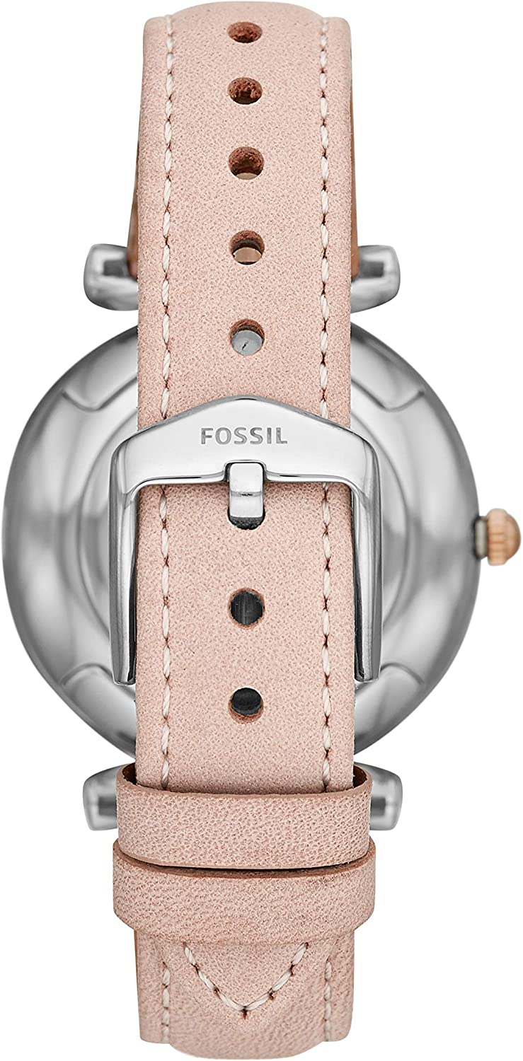 Fossil Women's Carlie Stainless Steel Casual Quartz Watch Nude
