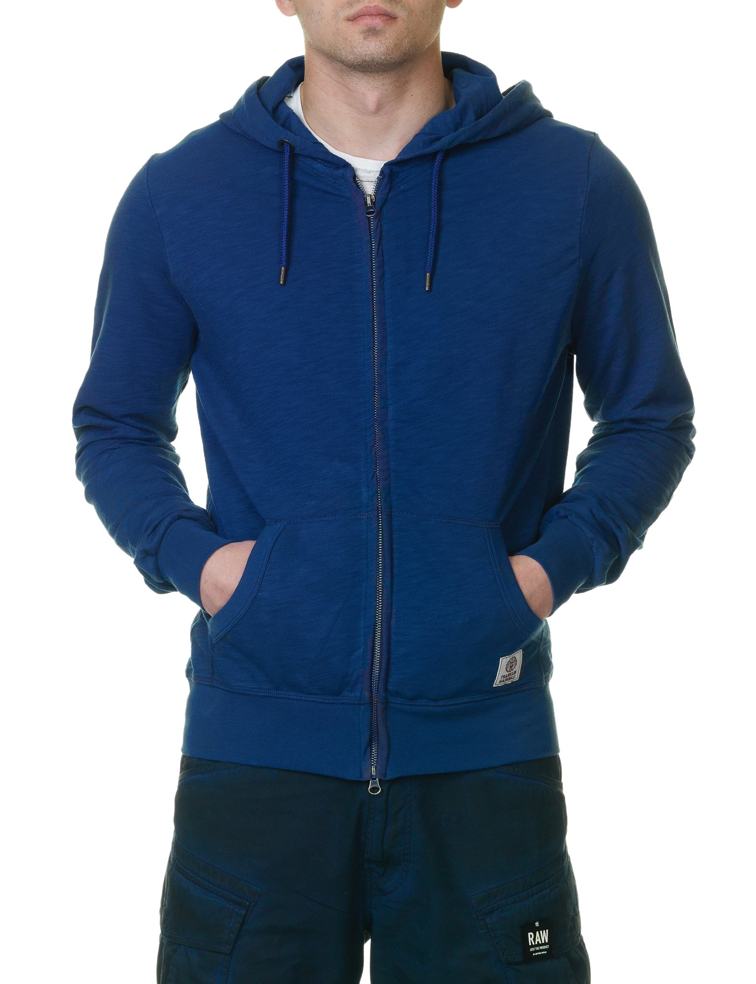 Franklin & Marshall Men's Men's Hoodie In Blue Color in Size XL Blue