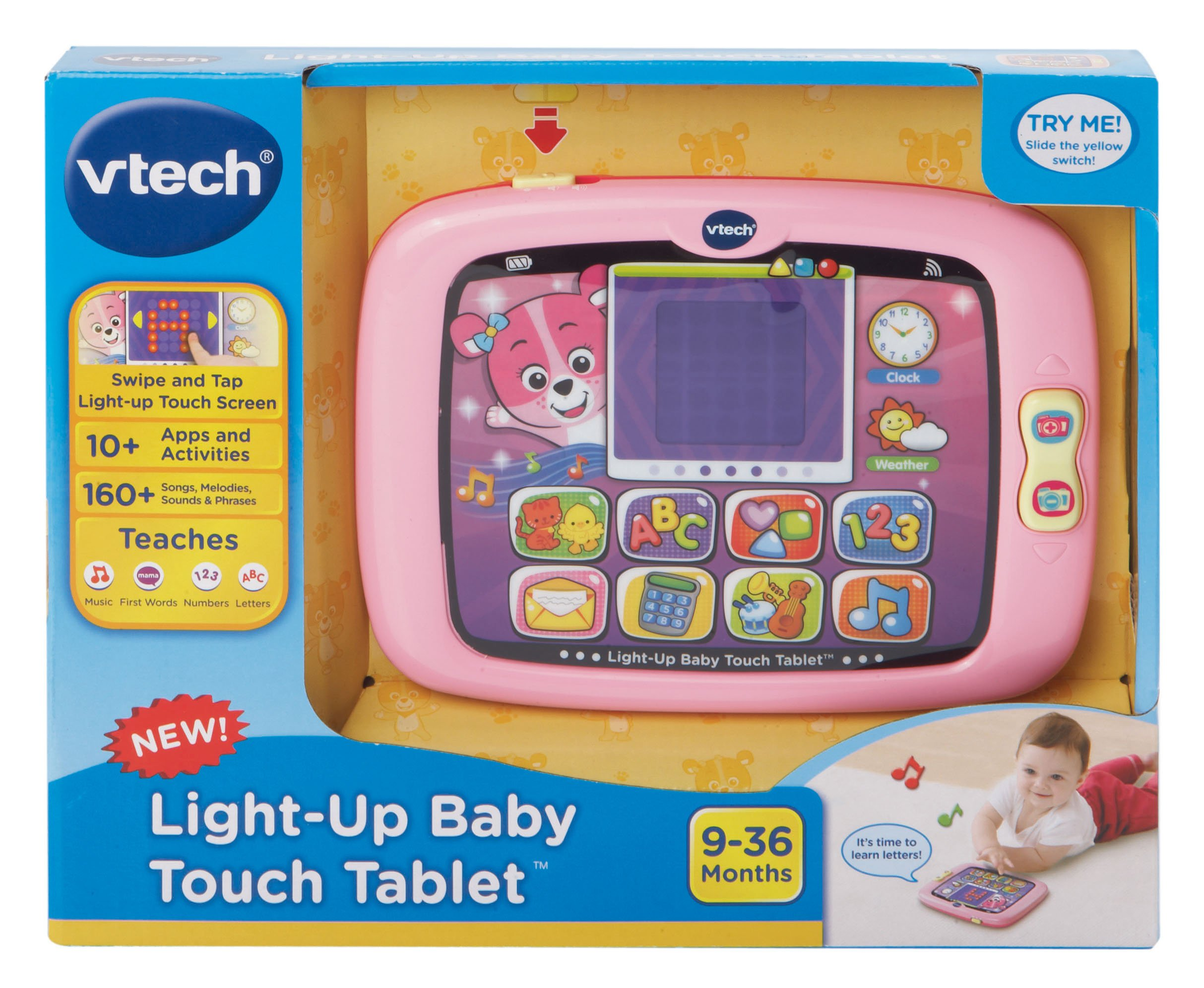 VTech Light-Up Baby Touch Tablet, Pink by VTech (Image #4)