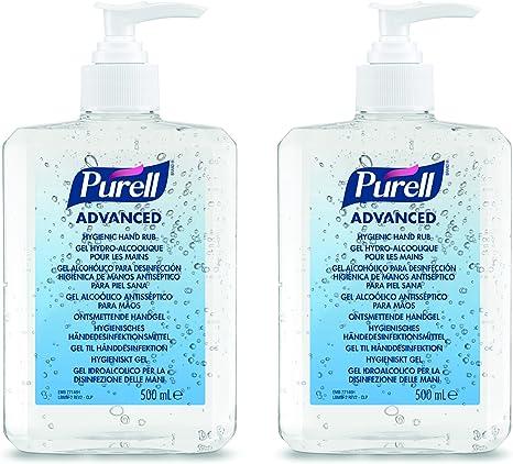 Purell Advanced Hygienic Hand Rub 2 X 500ml Bottle Amazon Co