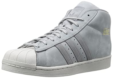 A mid cut take on the adidas Superstar sneakers, the Pro